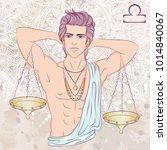 zodiac. vector illustration of... | Shutterstock .eps vector #1014840067