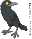 cartoon crow isolated on white... | Shutterstock .eps vector #1014840913