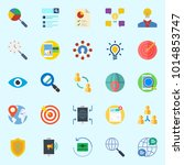 icons about marketing with... | Shutterstock .eps vector #1014853747