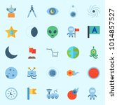 icons about universe with... | Shutterstock .eps vector #1014857527