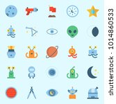 icons about universe with... | Shutterstock .eps vector #1014860533