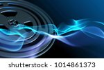 blue background with gear... | Shutterstock . vector #1014861373