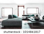 room with white walls  long... | Shutterstock . vector #1014861817