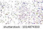 holographic gems background. 3d ... | Shutterstock . vector #1014874303