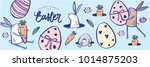 easter greeting template vector ... | Shutterstock .eps vector #1014875203