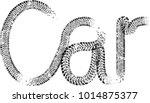 vector print textured tire... | Shutterstock .eps vector #1014875377