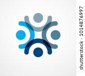teamwork businessman unity and... | Shutterstock .eps vector #1014876997