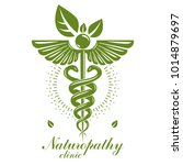 caduceus logo composed with... | Shutterstock .eps vector #1014879697