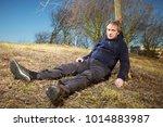 older man fell while running in ...   Shutterstock . vector #1014883987