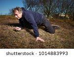older man fell while running in ...   Shutterstock . vector #1014883993
