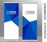 roll up business brochure flyer ... | Shutterstock .eps vector #1014884803