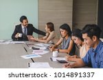 business meeting of business... | Shutterstock . vector #1014891337