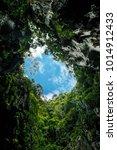 cave opening towards the sky | Shutterstock . vector #1014912433
