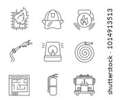 firefighting linear icons set.... | Shutterstock . vector #1014913513