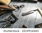 side view of antique and... | Shutterstock . vector #1014916363