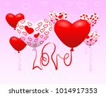 vector illustration. love and... | Shutterstock .eps vector #1014917353