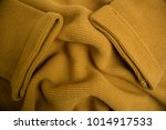 the texture of yellow knit | Shutterstock . vector #1014917533