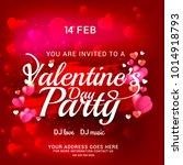 illustration of valentines day... | Shutterstock .eps vector #1014918793