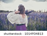 beautiful young girl in ultra... | Shutterstock . vector #1014934813