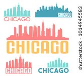 chicago illinois usa flat icon... | Shutterstock .eps vector #1014945583