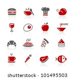 Food Icons / Set 1 of 2 // Redico Series - stock vector