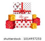 vector illustration. gifts for... | Shutterstock .eps vector #1014957253