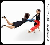 3d woman atract concept on... | Shutterstock . vector #1014961147