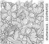 adult coloring book page with...   Shutterstock .eps vector #1014964933