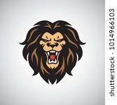 wild lion logo roaring mascot...   Shutterstock .eps vector #1014966103