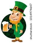 saint patrick's day. leprechaun ... | Shutterstock .eps vector #1014974647