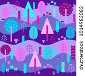 enchanted forest vector... | Shutterstock .eps vector #1014983083