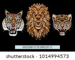 embroidery vector colorful...   Shutterstock .eps vector #1014994573
