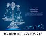 scales of justice. abstract... | Shutterstock .eps vector #1014997357