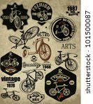 set of bicycle vector... | Shutterstock .eps vector #101500087