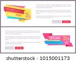 set sale special offer order... | Shutterstock .eps vector #1015001173