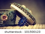 vintage box with ring | Shutterstock . vector #101500123