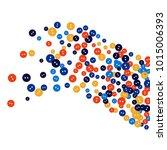vector confetti background... | Shutterstock .eps vector #1015006393