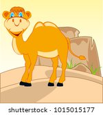 the drawing animal camel in...   Shutterstock .eps vector #1015015177