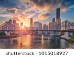 brisbane. cityscape image of... | Shutterstock . vector #1015018927