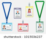 set of employees identification ... | Shutterstock .eps vector #1015036237
