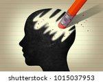 Stock photo  d head erased by pencil eraser 1015037953