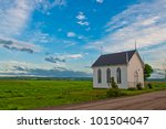 Church Building At Sunset With...
