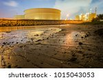 oil and gas refinery industrial ... | Shutterstock . vector #1015043053