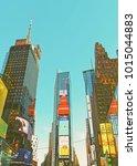 new york  usa   april 25  2015  ... | Shutterstock . vector #1015044883
