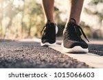 women running on the road for... | Shutterstock . vector #1015066603