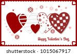 happy valentines day vector... | Shutterstock .eps vector #1015067917