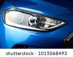 Led Car Headlight Close Up. Ne...