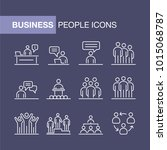 business people icons set... | Shutterstock .eps vector #1015068787