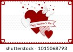 happy valentines day background.... | Shutterstock .eps vector #1015068793