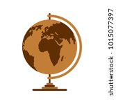 geography icon. flat... | Shutterstock . vector #1015077397